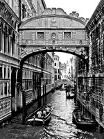 B&W Bridge of Sighs Venice