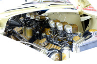 Gold & Silver Hot Rod Engine