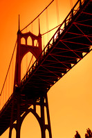 St. Johns Bridge Sunset Portland Oregon